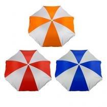 Guarda-Sol Azul e Branco Diâmetro 1,80 Vermelho e Branco - MOR