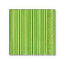 Guardanapo Basic Unique Stripes Green 33X33 cm Paper Design - Paper Design