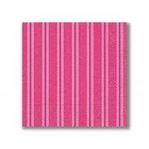 Guardanapo Basic Unique Stripes Pink 33X33 cm Paper Design - Paper Design