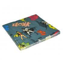 Guardanapo de papel batman e robin onomatopeias dc comics 16,5x16,5cm -