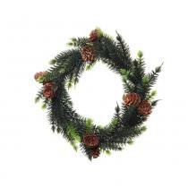 Guirlanda C/ Pinhas Decoração Natal 17 cm Verde - Cromus