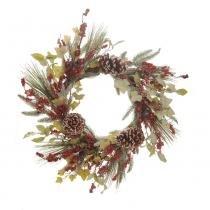 Guirlanda P/ Porta Decoração Natal Vermelho - Cromus