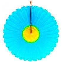Guirlanda Papel de Seda Margarida Azul - 88 cm - Festabox