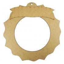 Guirlanda Redonda Sol Enfeite de Porta com Placa Mensagem 30cm - Palácio da Arte -