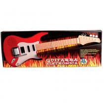 Guitarra eletrônica vermelha - dtc -