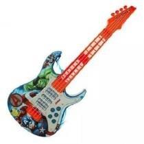 Guitarra musical eletrica infantil vingadores avengers com luz e som - Toyng