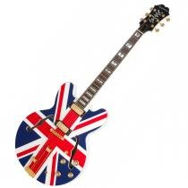 Guitarra Semi Acustica Sheraton Union Jack Limited Edition Alpine White - Epiphone - Epiphone