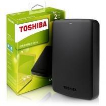 Hd externo 2tb 2,5 usb 3.0 canvio basics (disco rígido) hdtb320ek3ca toshiba -