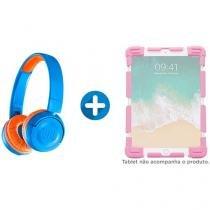 """Headphone/Fone de Ouvido Bluetooth - JBL+ + Capa para Tablet Universal 7"""" até 7,9"""" Rosa"""
