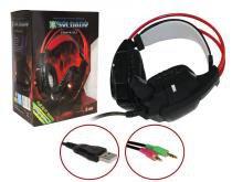 Headphone Game Com Microfone Luz Led Colorido Cabo Reforçado Revestido Silicone Gh-X20 - Infokit