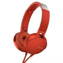 Headphone on ear original sony extra bass mdr xb550abp red -