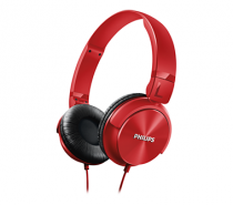 Headphone philips estilo dj shl3060rd/00: vermelho - Philips