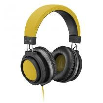 Headphone Pulse P2 Preto e Amarelo PH229 - Multilaser