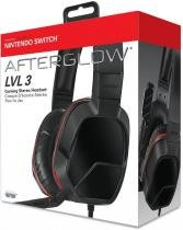 Headset Afterglow LVL 3 Gaming Stereo Vermelho - Switch - Pdp