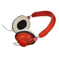 Headset Gamer C3Tech MI-2818RR Nessie C/Microfone Vermelho/Branco -