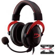 Headset gamer hyperx 7.1 cloud ii khx-hscp-rd preto e vermelho - Hyperx