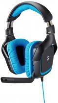 Headset Gamer Logitech G430 7.1 DOLBY Surround USB Preto e AZUL 981-000551 -