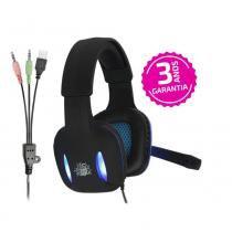 Headset Gamer Nemesis Preto Led Azul Nm-2190 - 5+