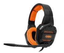 Headset Gamer Oex Conquest Preto/Laranja, HS-406 -