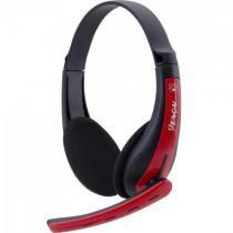 Headset gamer pc/xbox 360 spider venom shs-701 preto/vermelho fortrek -