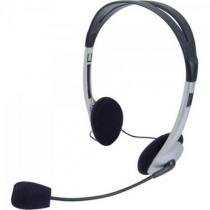 Headset Voicer LIGHT 662040BS PRETO/PRATA Omega -
