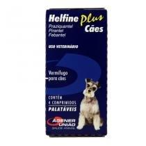 Helfine Plus Vermífugo Cães 10kg 4 comprimidos - Agener União -