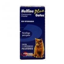 Helfine Plus Vermífugo Gatos 2 comprimidos - Agener União -