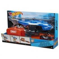 Helicóptero da Swat Hot Wheels Mattel Veículos Da Cidade CDK80 -