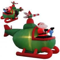 Helicóptero inflável decoração de natal 1,50 mt iluminado 220 volts 1563 cbrn04959 - Commerce brasil