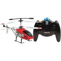Helicóptero Phantom Rádio Controle 3 Canais Vermelho - Candide - Outras Marcas