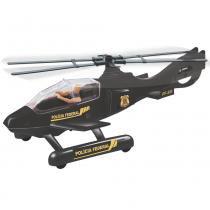 Helicóptero Policia Federal Preto 2319 - Lider - Lider Brinquedos