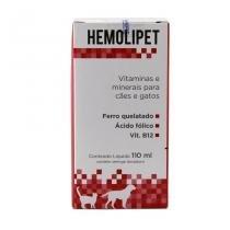 Hemolipet 110ml Avert Suplemento Cães e Gatos - Avert