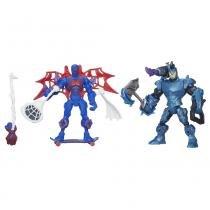 Hero Mashers Pack Spider Man vs Rhino - Hasbro - Avengers