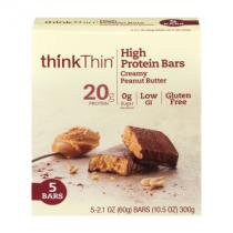 High Protein Bar - Think Thin - 5 barras - Creamy Peanut Butter -
