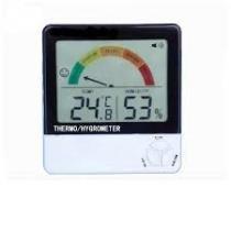 Higrometro digital colorido com medidor de temperatura e umidade com memoria maxima e minima - Faça  resolva
