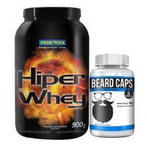 Hiper Whey 900G Probiótica Chocolate + Beard Intlab - Probiótica