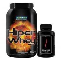 Hiper Whey 900G Probiótica Chocolate + Halovar Testo Intlab - Probiótica