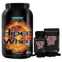 Hiper Whey Probiótica Chocolate + Lipo 100 Black Intlab - Probiótica