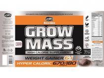 Hipercalórico Grow Mass 3Kg Chocolate Unilife - Unilife