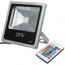 Holofote Refletor Led 20w Rgb Bivolt - Powerxl