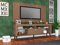 Home Com Bancada E Painel Itália Montana - ATMCJ023 MT - Art In Móveis - Artin móveis