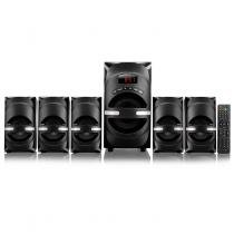 Home Theater 5 em 1 Speaker Superwoofer Bivolt Preto SP169 - Multilaser -