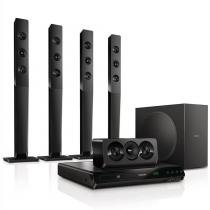 Home theater DVD Player Philips HTD5570/78 800W HDMI e Função Karaokê - NULL - Philips