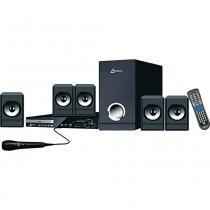 Home Theater Lenoxx HT728 com DVD Rádio FM MP3 Karaokê USB Função Ripping -