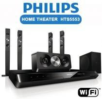 Home Theater Philips  HTS5553/78 C/ DVD 800w HDMI DIVX USB Karaokê Wireless - NULL - Philips