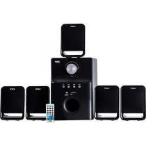 Home Theater TRC Speaker System 40W RMS - 5.1 Canais Conexão USB