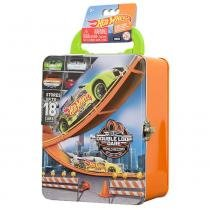 Hot Wheels Maleta Metálica Laranja - Porta Carrinhos - Intek -