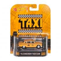 Hot Wheels Mattel Retro 74 Checker Taxi Cab - Laranja - MATTEL