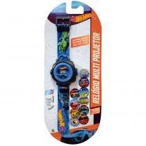 Hot Wheels Relógio Multi Projetor Com 20 Imagens Azul - Fun Divirta-Se -
