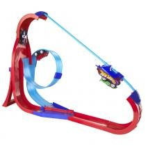 Hot Wheels Super Pista Skyhigh Rev Ups - Mattel - Hot Wheels